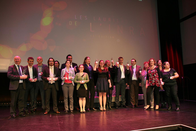 Les lauréats de l'équipe « Génétique et génomique bovine » de l'Unité mixte technologique 3G