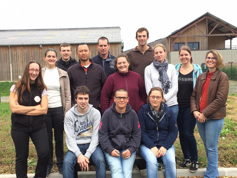 Les stagiaires tous diplômés du CAFTI ovin