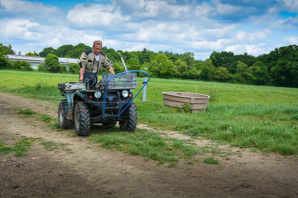 Un quad qui facilite le pâturage