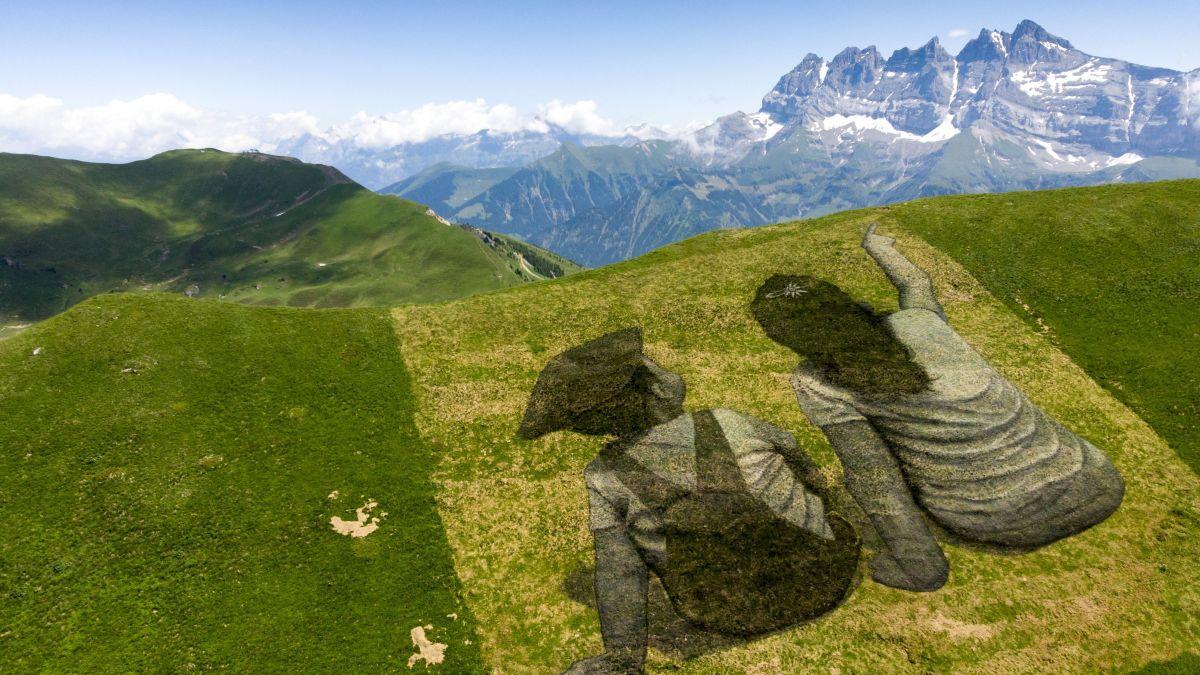 VIDEO. Les Crosets (Suisse) : une fresque monumentale et éphémère peinte à la frontière avec la Haute-Savoie