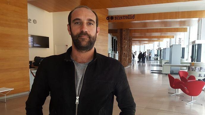Edouard Bergeon, réalisateur du film Au nom de la terre, ici à l'issue d'une émission enregistrée sur France Inter autour de son film