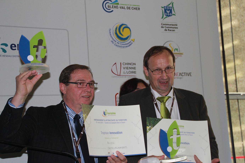 Jean-Pierre GACHET (Président de la Communauté de communes du Castelrenaudais) et Michel CETRE (Président d'Allice)