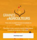 Jeunes installés : candidatez jusqu'au 31 mai pour le concours « Graines d'agriculteurs ».